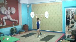 Шумихин Артур, 10 лет, вк 34 Толчок 21 кг