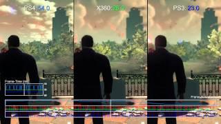 Saints Row 4 PS4 vs PS4/Xbox 360 Cut-Scene Frame-Rate Test