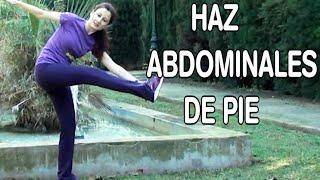 EJERCICIOS ABDOMINALES DE PIE-ABDOMINALES Y OBLICUOS PARADOS-ABDOMEN PLANO Y CINTURA DE AVISPA