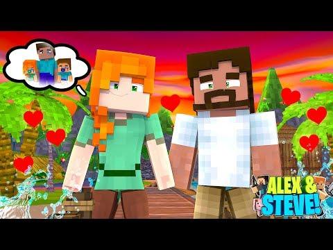ALEX'S SECRET LOVE AFFAIR WITH HER EX BOYFRIEND!! Minecraft LIFE of ALEX & STEVE