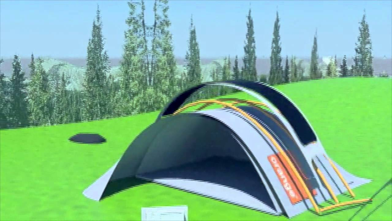 3DS Max Animation: Glastonbury Solar Power Tent Assembly