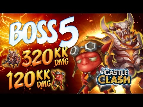 Castle Clash: Boss 5 - 320kk DMG F2P HEROES FULL SETUP SD STRAT