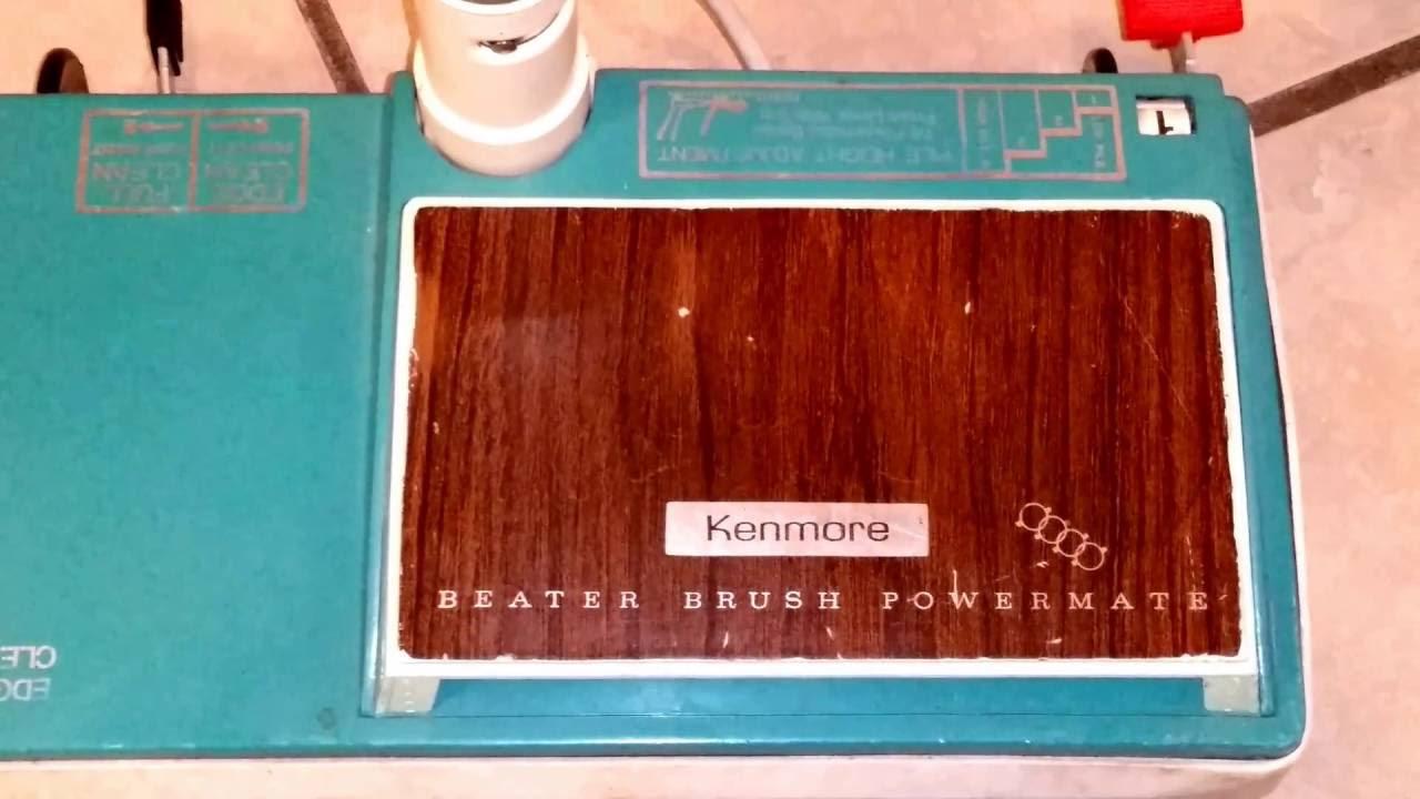 kenmore 81614. vintage sears kenmore powermate canister vacuum 81614
