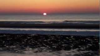 Winter in Holland 2012-17: Zonsondergang met IJs aan zee/ Icy Sundown/ Bergen aan Zee/ February 10