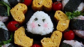 How to make a Bento (#15 Heart shaped egg omelette TAMAGOYAKI) #15 ハート形の卵焼き