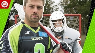 Pro Lacrosse Player vs. Regular People | Rob Pannell