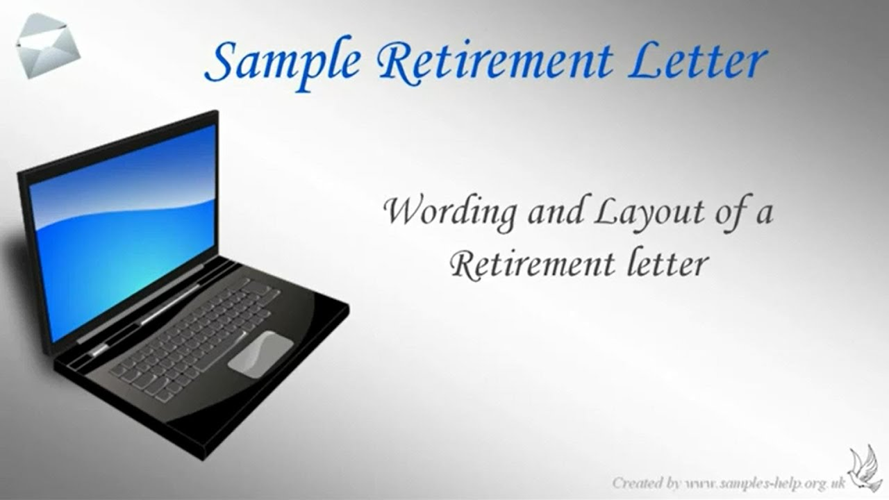 how to write a retirement letter youtube
