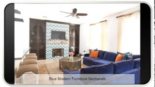 Blue Modern Furniture Sectionals