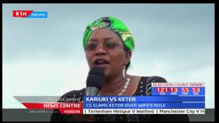 Video CS Sicily Kariuki slams Charles Keter for preventing his wife to vie for Women Rep download MP3, 3GP, MP4, WEBM, AVI, FLV Oktober 2018