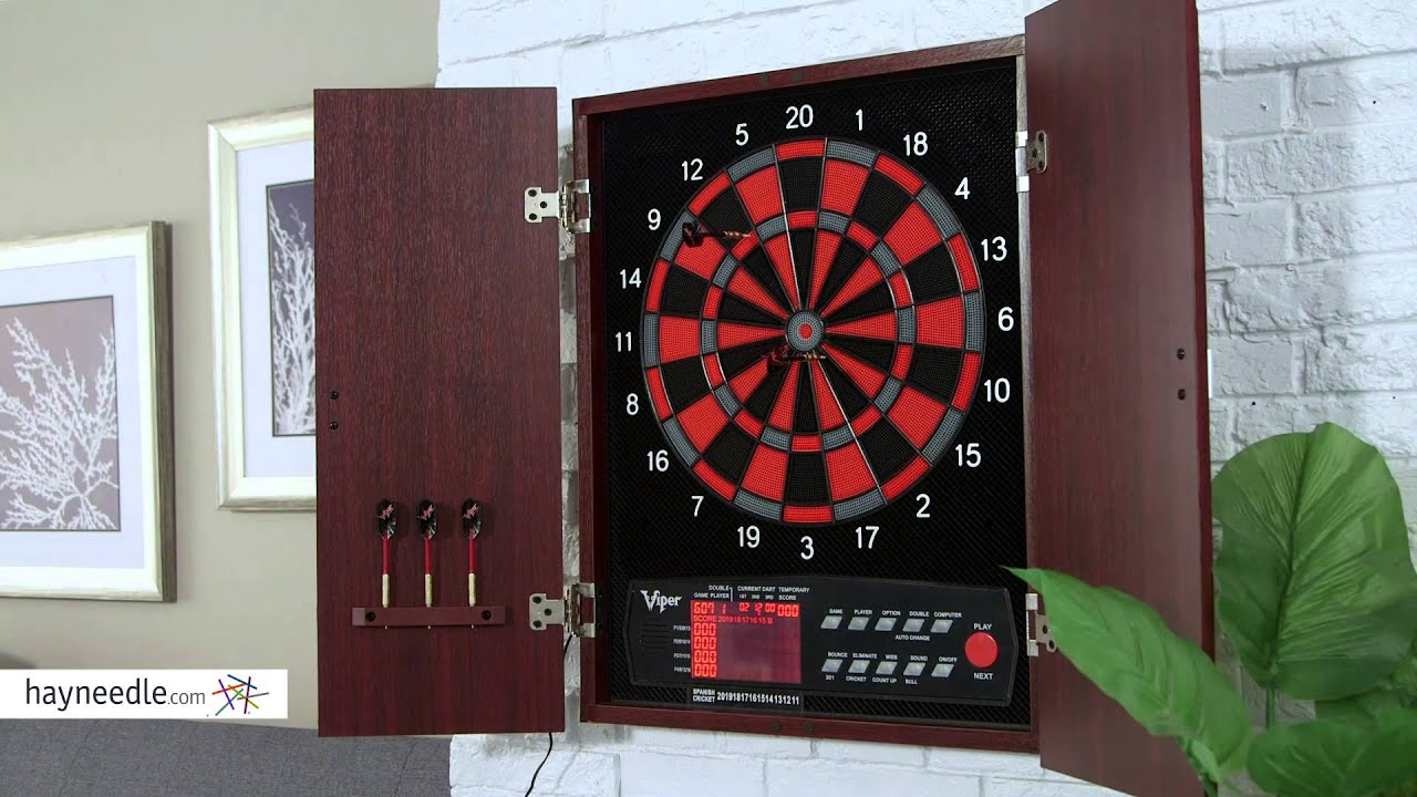 Viper Neptune Electronic Dart Board with Cabinet - Product Review Video & Viper Neptune Electronic Dart Board with Cabinet - Product Review ...