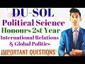 B.A - Political Science Honours 2nd Year - International Relation Very Important Questions-Solutions