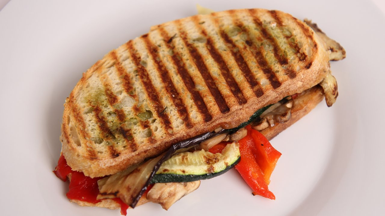 Grilled Veggie Panini Recipe - Laura Vitale - Laura in the Kitchen ...