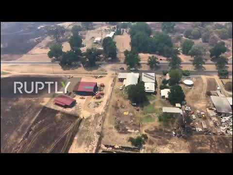 Australia: Aerial footage shows aftermath of devastating wildfires in Victoria