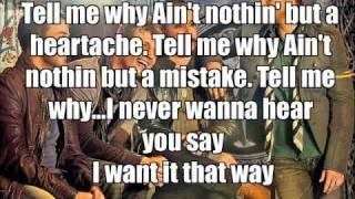 tell me why   backstreetboys   karaoke lyrics