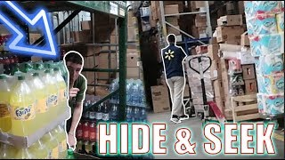 HIDE & SEEK CHALLENGE IN WALMART! *EMPLOYEES CHASE US*