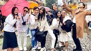Hari Trấn Thành và hội bạn thân thả đèn lồng cầu phúc ở Đài Loan