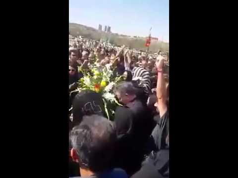 Les funérailles du dirigeant syndical Shahrokh Zamani