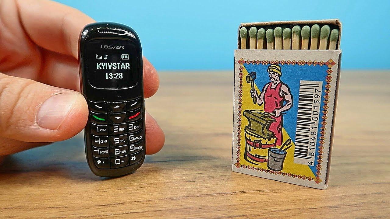 САМЫЙ МАЛЕНЬКИЙ в МИРЕ ТЕЛЕФОН за 14$. Микро Телефон с функцией искажения голоса. L8STAR BM70
