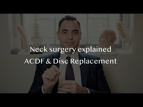 Neck Pain And Disc Herniation Surgery. ACDF And Disc Replacement.
