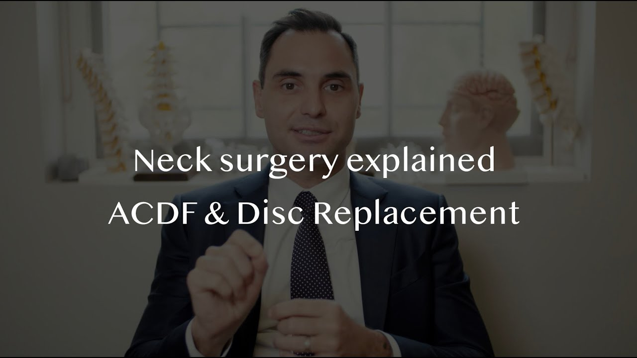 Spine Surgery - Anterior Cervical Discectomy and Fusion