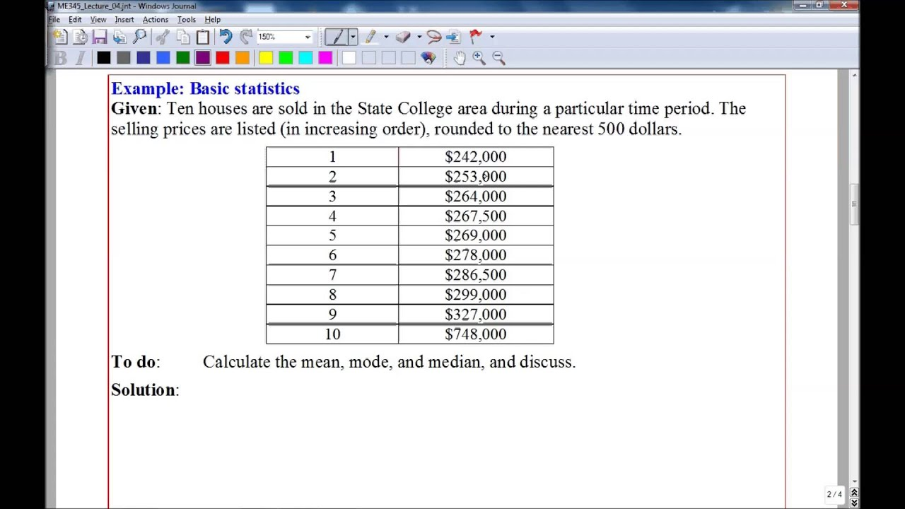 Example Of Statistics Problems