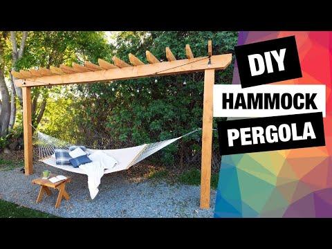 diy-hammock-pergola-|-backyard-pergola-|-easy-hammock-stand