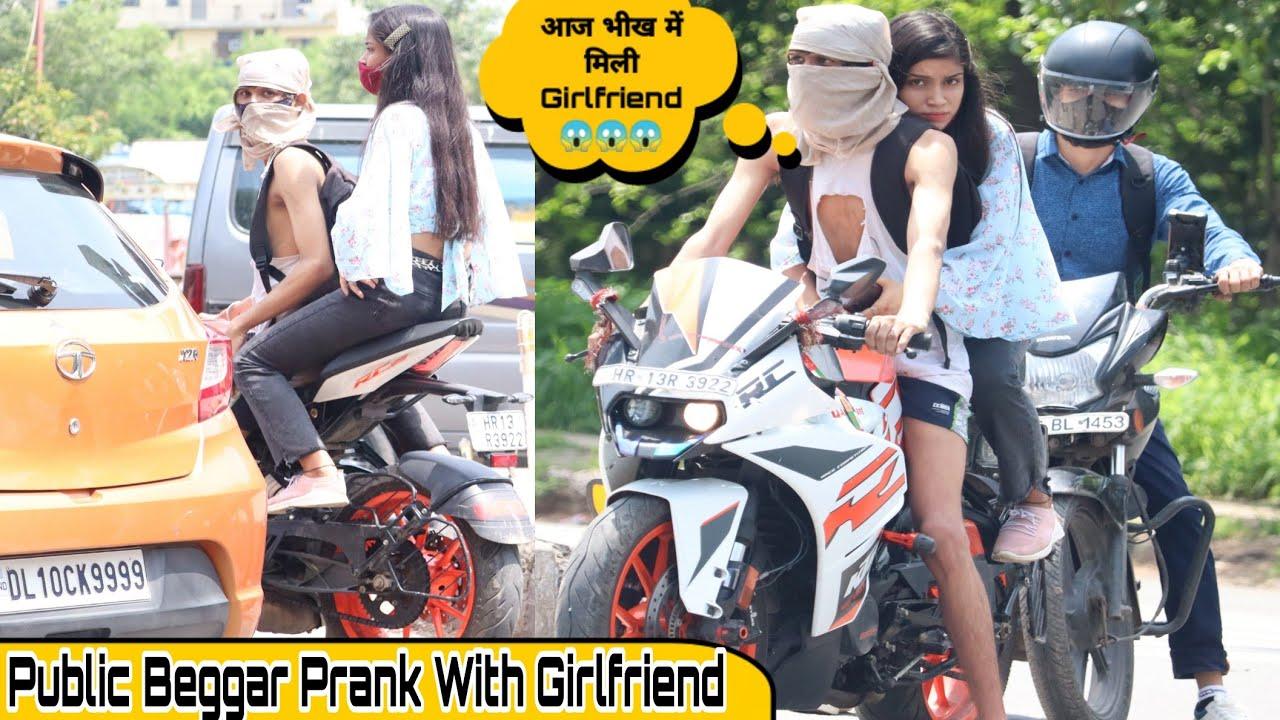 Beggar Prank With Super Bike पटाया New Girlfriend In Delhi 🙄   AVS Kant