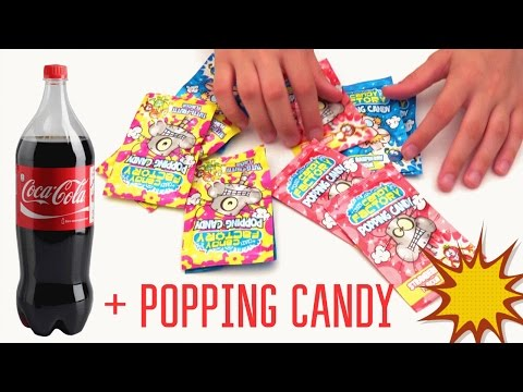 Popping Candy & Coca Cola Experiment   Pop Rocks analogue + Coke