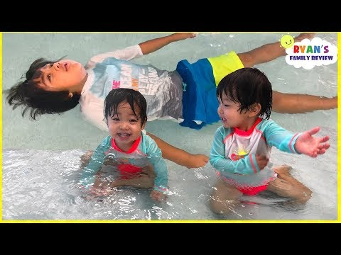 Kids Indoor Swimming Pool Playtime with Ryan, Emma, and Kate!!!!