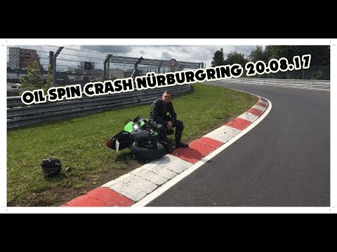 OIL SPILL CRASH Nürburgring 20.08.17   3 Motorcycles 1 Car Crash   Ford Focus RS Mk2 Onboard