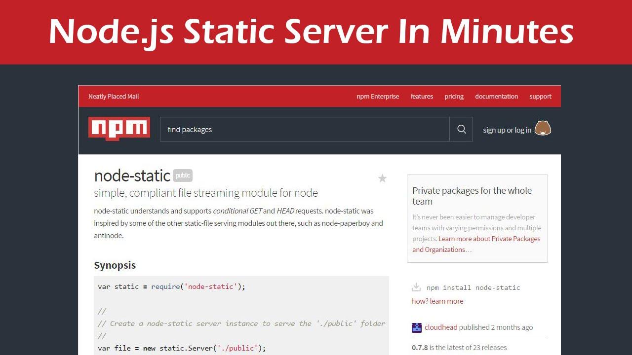 how to create server using jquery node js