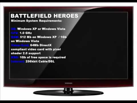 battlefield heroes system requirements youtube