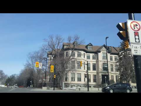 Driving around Ottawa Ontario, March 2017