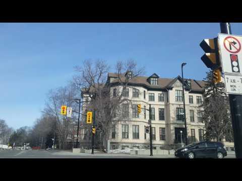 Driving around Ottawa Ontario, March 2017