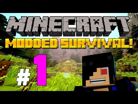 Minecraft: Modded Survival Let's Play - Episode 1: Suffocating Cats and Stuff