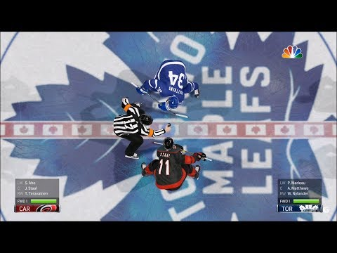 NHL 19 - Toronto Maple Leafs vs Carolina Hurricanes - Gameplay (HD) [1080p60FPS]