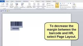 How to complete a Word Mail Merge to create Code 128 HR Barcodes
