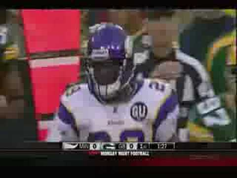 Adrian Peterson lays out Al Harris