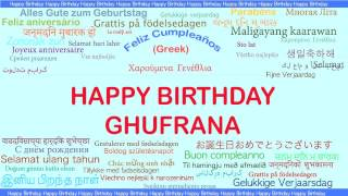 Ghufrana   Languages Idiomas - Happy Birthday