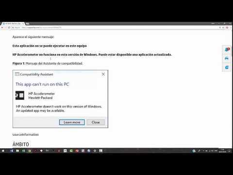 HP Accelerometer no funciona Windows 10/Actualización//HP