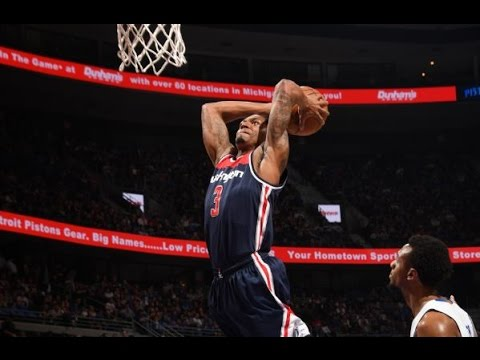 Bradley Beal's 33 Points Leads Wiz Past the Pistons | April 10, 2017