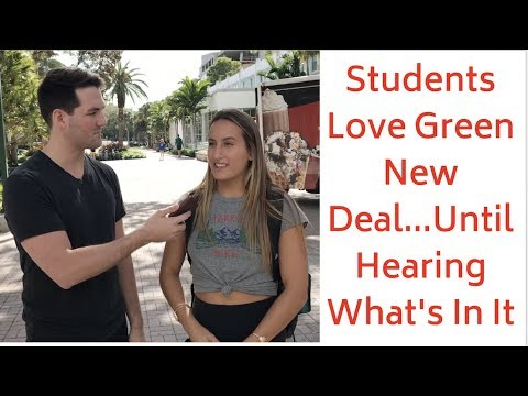 Good Morning Orlando - Students Support Green New Deal...Until They Found Out What's In It!