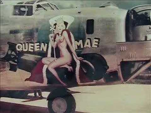 Girl nose art on Aircraft WWII aircraft   Pink Floyd