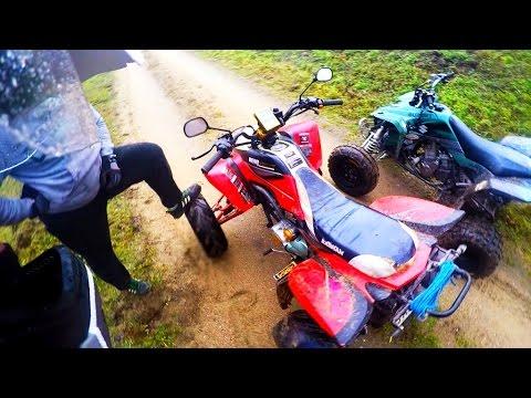 Yamaha blaster + Bashan 200cc - Observations adventures #5 - Przygody podczas jazdy quadem