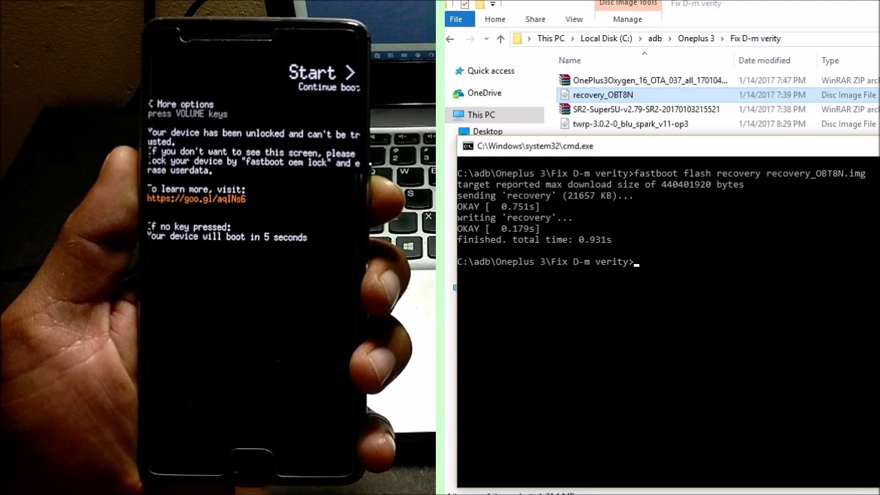 How to Fix Dm-Verity Check Error on OnePlus 3/3T