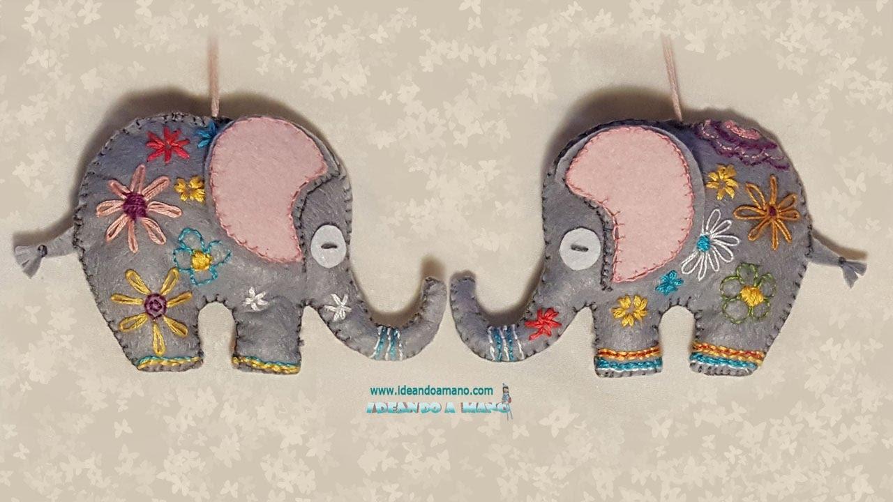 Diy Elefante De Fieltro Youtube