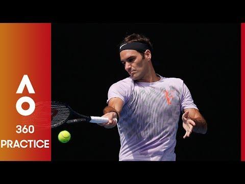 360: Federer practice up close | Australian Open 2017