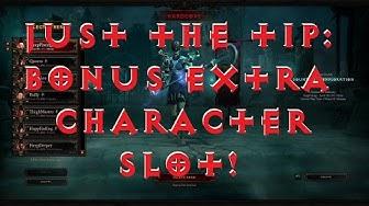 Diablo 3: Reaper of Souls - Free Extra Character Slot!