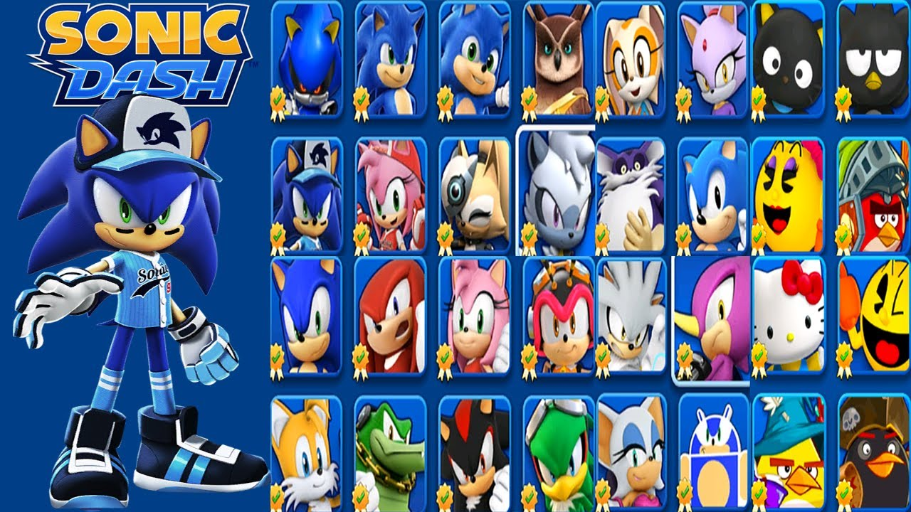 Sonic Dash - Slugger Sonic vs All Bosses - All 26 Characters Unlocked - Hack Unlimited Rings Mod