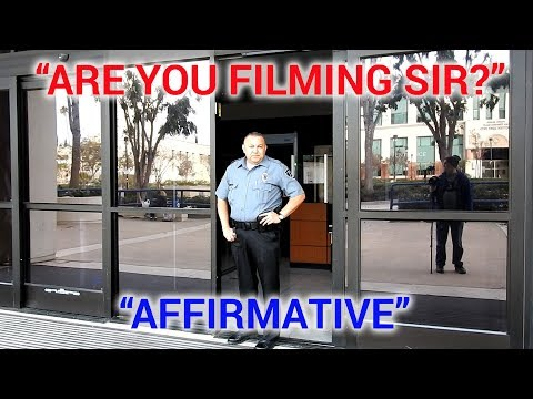 """LAPD VAN NUYS AND FEDERAL BUILDING """"ARE YOU FILMING SIR?"""""""